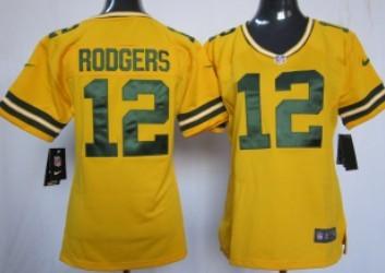 Nike Green Bay Packers #12 Aaron Rodgers 2012 Womens Zebra Fashion ...