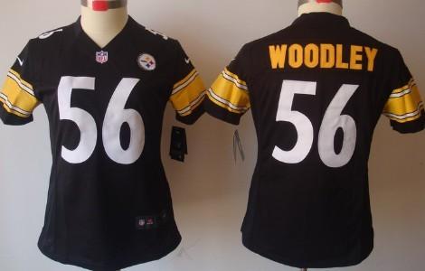 6d8715efc Nike Pittsburgh Steelers  56 Lamarr Woodley Black Limited Womens Jersey