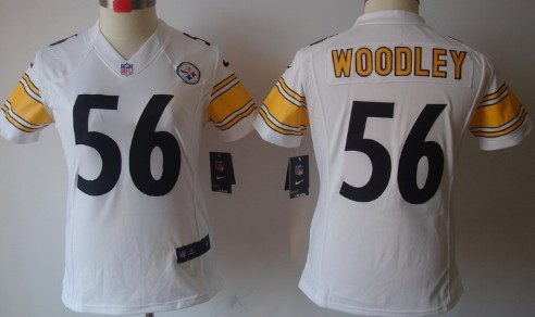 c4858b4a2 Nike Pittsburgh Steelers  56 Lamarr Woodley White Limited Womens Jersey