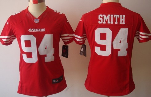 359d52386 nike san francisco 49ers 94 justin smith red limited womens jersey
