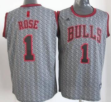 da02e070080 denmark chicago bulls 1 derrick rose black gray fadeaway fashion jersey  c9f44 a4f09