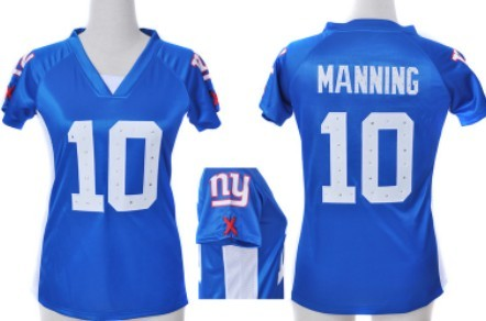 bf5bf41b9 ... Fashion Jersey Nike New York Giants 10 Eli Manning 2012 Blue Womens  Draft Him II Top Jersey ...