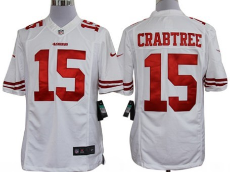 6fcfb2a107e nike san francisco 49ers 15 michael crabtree white limited jersey