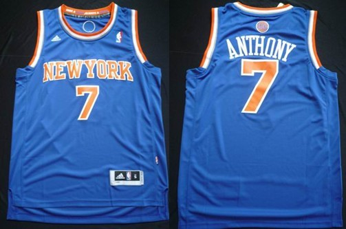 5e7e2d08 ... New York Knicks 7 Carmelo Anthony Revolution 30 Swingman 2013 Blue  Jersey ...