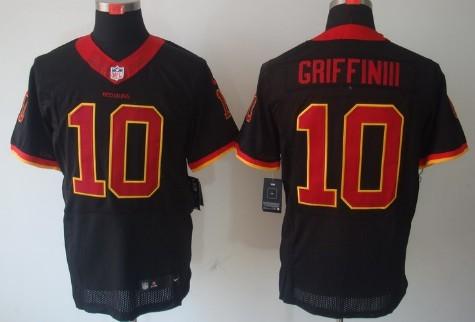 5b4232f0c ... Nike Washington Redskins 10 Robert Griffin III Black Elite Jersey ...