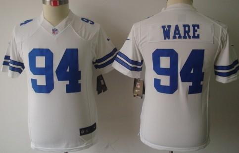 c637b1ea4 ... Nike Dallas Cowboys 94 DeMarcus Ware White Limited Kids Jersey Nike Dallas  Cowboys 94 DeMarcus Ware Black Impact ...