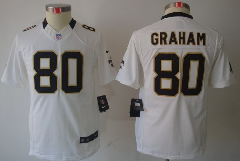 ... NFL Jerseys Nike New Orleans Saints 80 Jimmy Graham White Limited Kids  Jersey ... c9befa5f9