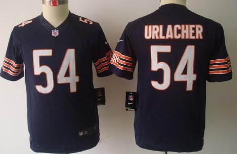 nike chicago bears 54 brian urlacher blue limited kids jersey