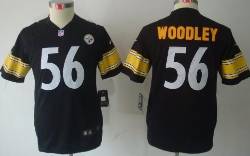 aaf1c2db4 ... Nike Pittsburgh Steelers 56 LaMarr Woodley Black Limited Kids Jersey ...