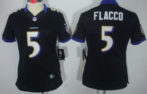 Girls Youth Baltimore Ravens Joe Flacco Nike Purple Game