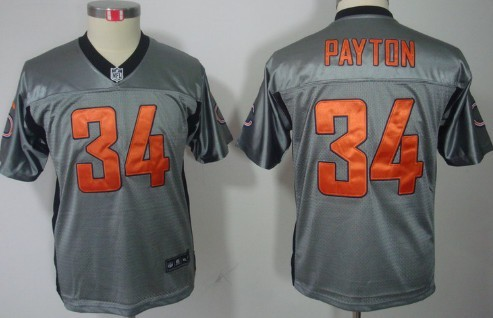... Blue 1940s Throwback Mens Stitched NFL Elite Jersey Nike Chicago Bears  34 Walter Payton Gray Shadow Kids Jersey ... f27068d79