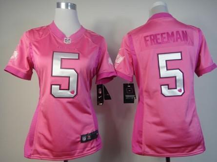 nike tampa bay buccaneers 5 josh freeman pink love womens jersey