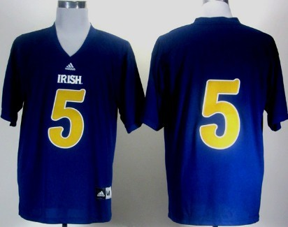 Notre Dame Fighting Irish #5 Everett Golson 2012 Shamrock Series Navy Blue Jersey