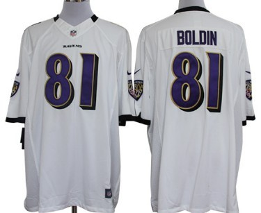 2673cf81 Nike Baltimore Ravens #81 Anquan Boldin White Limited Jersey on sale ...