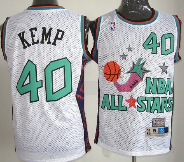 ... NBA 1996 All-Star 40 Shawn Kemp White Swingman Throwback Jersey ... 557ca9650