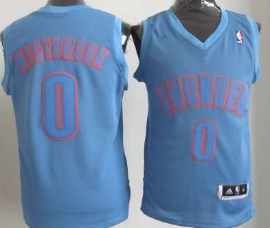 8bc0eab8e ... Oklahoma City Thunder 0 Russell Westbrook Revolution 30 Swingman Light  Blue Big Color Jersey ...