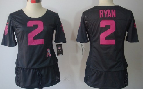 4947c4d1d94 Nike NFL Atlanta Falcons 2 Matt Ryan White Limited Team Color Youth Jersey  Nike Atlanta Falcons 2 Matt Ryan Breast Cancer Awareness Gray Womens Jersey  ...