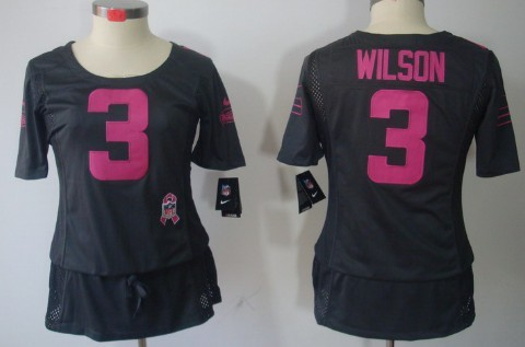601be7ab1 ... Pink Love Womens Jersey Nike Seattle Seahawks 3 Russell Wilson Breast  Cancer Awareness Gray Womens Jersey .