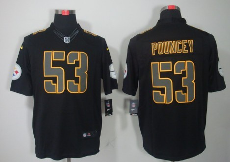 newest 4189c 318e3 Nike Pittsburgh Steelers #43 Troy Polamalu Drenched Limited ...