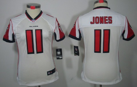 930f5c1a Nike Atlanta Falcons #11 Julio Jones White Limited Womens Jersey on ...