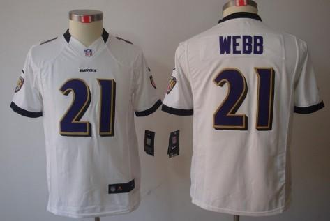 95d8c94fc ... NFL Jerseys Nike Baltimore Ravens 21 Lardarius Webb White Limited Kids  Jersey ...