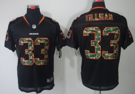 ... Nike Chicago Bears 33 Charles Tillman Black With Camo Elite Jersey ... b56f99206