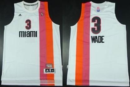 94cbd9cff ... Miami Floridians 3 Dwyane Wade ABA Hardwood Classic Swingman White  Jersey ...