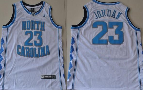 1c6a89984d3 ... North Carolina Tar Heels 23 Michael Jordan White Swingman Jersey ...