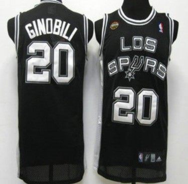 9ccd27e44 ... Fashion Jersey San Antonio Spurs 20 Manu Ginobili Latin Nights Black  Swingman Jersey 20 Manu Ginobili Swingman BlackGrey Groove Adidas NBA ...