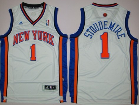 b5e830dc99c ... New York Knicks 1 Amare Stoudemire Revolution 30 Swingman White Jersey  ...
