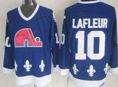 Quebec Nordiques #10 Guy Lafleur Navy Blue Throwback CCM Jersey