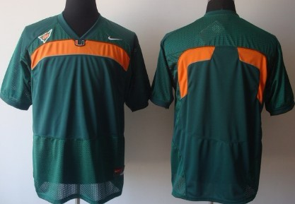 Miami Hurricanes Blank Green Jersey