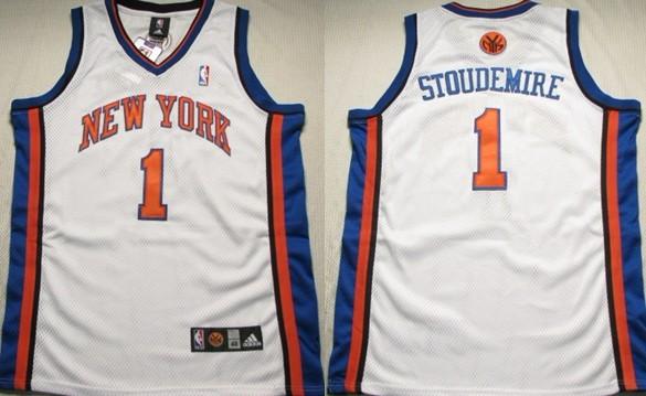 b03ea472d ... New York Knicks 1 Amare Stoudemire White Swingman Jersey ...