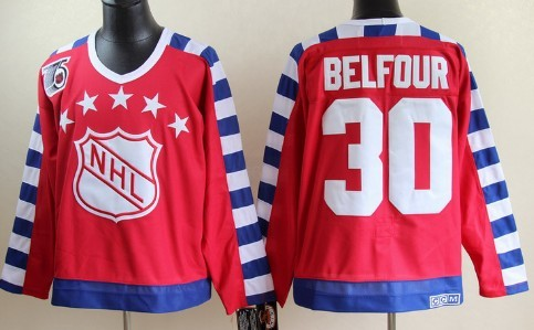 NHL 1992 All-Star #30 Ed Belfour Red 75TH Throwback CCM Jersey