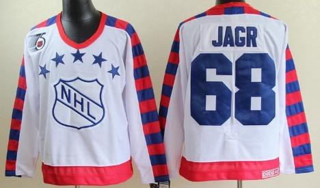 NHL 1992 All-Star #68 Jaromir Jagr White 75TH Throwback CCM Jersey