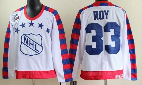 NHL 1992 All-Star #33 Patrick Roy White 75TH Throwback CCM Jersey