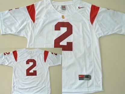 USC Trojans #2 Robert Woods White Jersey