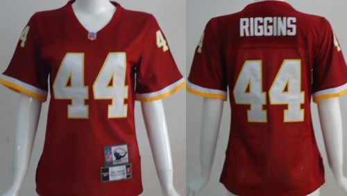 Washington Redskins #44 John Riggins Red Throwback Womens Jersey