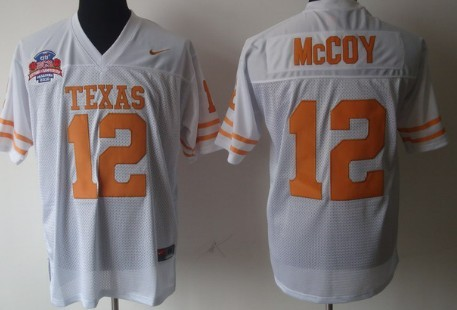 Texas Longhorns #12 Colt McCoy White Jersey