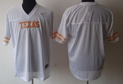 Texas Longhorns Blank White Jersey