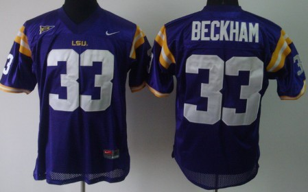 LSU Tigers #33 Odell Beckham Purple Jersey