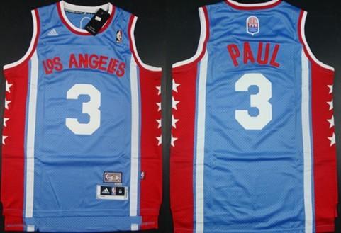 710a00eaa ... Los Angeles Clippers 3 Chris Paul ABA Hardwood Classic Swingman Blue  Jersey ...