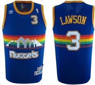 ... Denver Nuggets 3 Ty Lawson Blue Rainbow Swingman Throwback Jersey ... 96eebb414