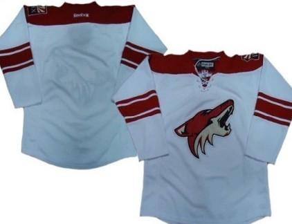 Phoenix Coyotes Blank White Jersey
