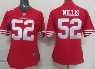 Nike San Francisco 49ers  52 Patrick Willis Red Game Womens Jersey ... 593057f76
