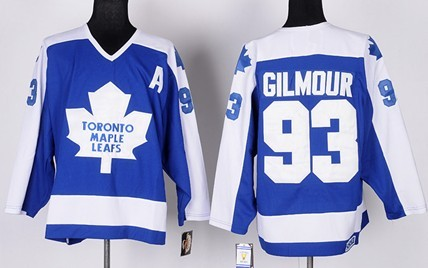 3640a265a8d ... Authentic Throwback) Toronto Maple Leafs 93 Doug Gilmour Blue With White  Throwback CCM Jersey ...