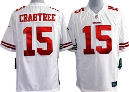 14144ded1ba ... Nike San Francisco 49ers 15 Michael Crabtree White Game Jersey ...
