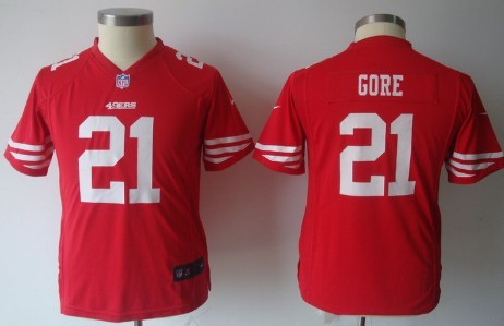 52f7c23ca5b nike san francisco 49ers 21 frank gore red game kids jersey