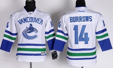 3aba38d9d87 ... Vancouver Canucks 14 Alexandre Burrows White Kids Jersey ...
