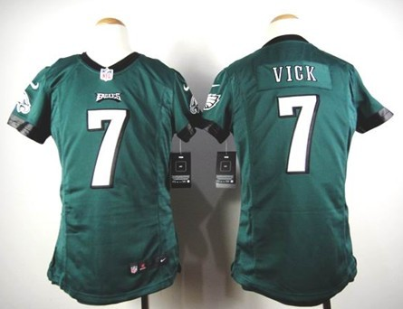 8e8824949d3 ... Nike Philadelphia Eagles 7 Michael Vick Dark Green Game Kids Jersey ...